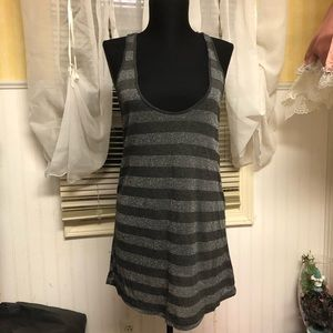 PacSun Grey Metallic Tank Top Large